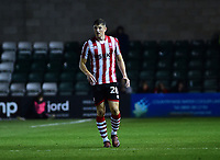 Lincoln City's Adam Crookes<br /> <br /> Photographer Andrew Vaughan/CameraSport<br /> <br /> The EFL Checkatrade Trophy Northern Group H - Lincoln City v Wolverhampton Wanderers U21 - Tuesday 6th November 2018 - Sincil Bank - Lincoln<br />  <br /> World Copyright © 2018 CameraSport. All rights reserved. 43 Linden Ave. Countesthorpe. Leicester. England. LE8 5PG - Tel: +44 (0) 116 277 4147 - admin@camerasport.com - www.camerasport.com