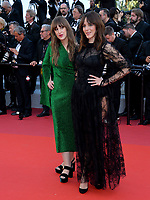 "CANNES, FRANCE. May 15, 2019: Elizabeth Bosse & Monia Chokri at the gala premiere for ""Les Miserables"" at the Festival de Cannes.<br /> Picture: Paul Smith / Featureflash"