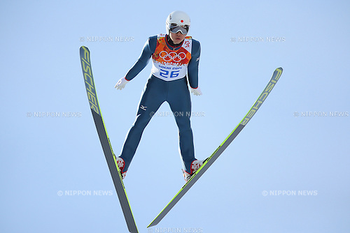 Hideaki Nagai (JPN), <br /> FEBRUARY 19, 2014 - Nordic Combined : <br /> Individual Gundersen NH/10km at &quot;RUSSKI GORKI&quot; Jumping Center <br /> during the Sochi 2014 Olympic Winter Games in Sochi, Russia. <br /> (Photo by Yohei Osada/AFLO SPORT)