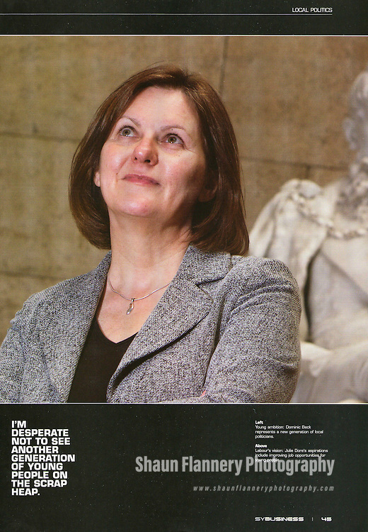 South Yorkshire Business Magazine.Julie Dore, Leader of Sheffield City Council..Issue 29, 2011