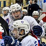 09.01.2020, BLZ Arena, Füssen / Fuessen, GER, IIHF Ice Hockey U18 Women's World Championship DIV I Group A, <br /> Daenemark (DEN) vs Frankreich (FRA), <br /> im Bild Manon Roy (FRA, #6) freut sich nach einem Tor<br /> <br /> Foto © nordphoto / Hafner