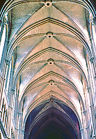 Rheims: Notre Dame Cathedral. Nave vaulting--125 ft. high. Photo '87.