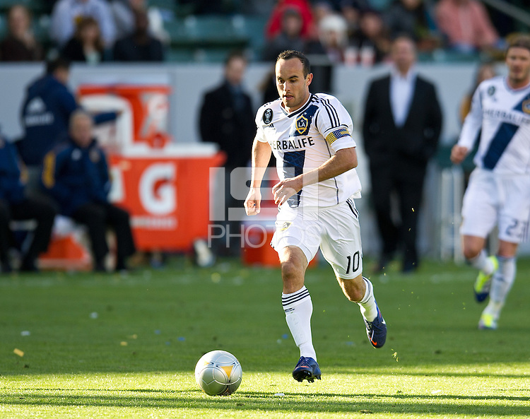 CARSON, CA - March 18,2012: LA Galaxy midfielder Landon Donovan (10) during the LA Galaxy vs DC United match at the Home Depot Center in Carson, California. Final score LA Galaxy 3, DC United 1.