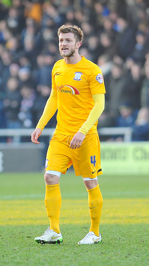 Preston North End's Scott Wiseman in action during todays match  <br /> <br /> Photographer Craig Thomas/CameraSport<br /> <br /> Football - The Football League Sky Bet League One - Crewe Alexandra v Preston North End - Sunday 28th December 2014 - Alexandra Stadium - Crewe<br /> <br /> &copy; CameraSport - 43 Linden Ave. Countesthorpe. Leicester. England. LE8 5PG - Tel: +44 (0) 116 277 4147 - admin@camerasport.com - www.camerasport.com