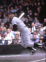 New York Yankees Mickey Mantle(7) in action during a game from his career. Mickey Mantle played for 18 years, all with the Yankees and was inducted to the Baseball Hall of Fame in 1974.David Durochik/SportPics