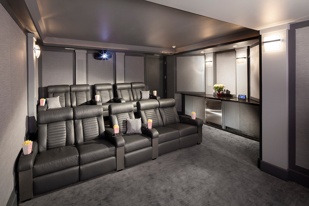 This High-Performance theater was designed for an Audio experience like no other. With a 7.2, commercial grade surround sound system, this theater will blow your mind...and your ears!