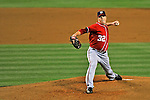 23 July 2011: Washington Nationals pitcher Tom Gorzelanny in action against the Los Angeles Dodgers at Dodger Stadium in Los Angeles, California. The Dodgers rallied to defeat the Nationals 7-6 on a Rafael Furcal walk-off, RBI double in the bottom of the 9th inning. Mandatory Credit: Ed Wolfstein Photo