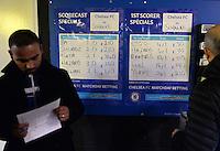 FUSSBALL   CHAMPIONS LEAGUE   SAISON 2013/2014   Vorrunde  in London FC Chelsea - FC Schalke     06.11.2013 Fussballwette, Wettquaten auf die Torschuetze vom FC Chelsea