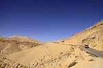 Israel, the Negev desert, the descend from Mount Avnon to the Large Crater