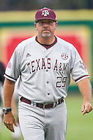 LSU Tigers Head Coach Rob Childress before the Southeastern Conference baseball game against the Texas A&M Aggies on April 24, 2015 at Alex Box Stadium in Baton Rouge, Louisiana. LSU defeated Texas A&M 9-6. (Andrew Woolley/Four Seam Images)