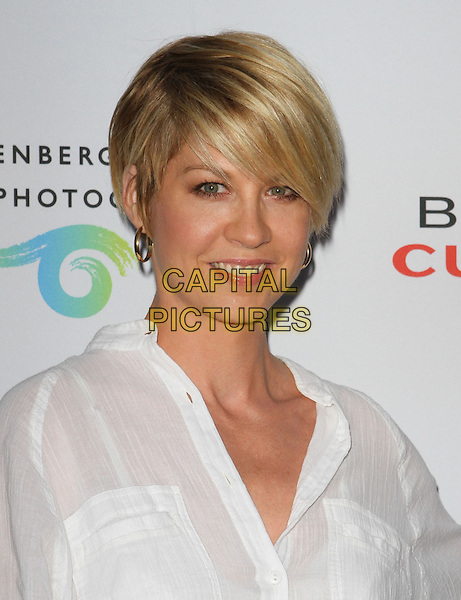 JENNA ELFMAN .at The opening of Beauty Culture - a photographic exploration of how feminine beauty is defined, challenged and revered in modern society held at Annenberg Space for Photography in Century City, California, USA,.May 19th 11..portrait headshot  white shirt .CAP/ADM/KB.©Kevan Brooks/AdMedia/Capital Pictures.