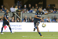 San Jose, CA - Saturday September 30, 2017: Anibal Godoy during a Major League Soccer (MLS) match between the San Jose Earthquakes and the Portland Timbers at Avaya Stadium.