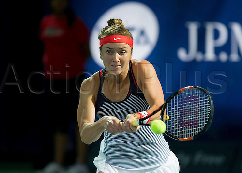 18.02.2016. Dubai, United Arab Emirates.  Elina Svitolina (UKR)  beats C Vandeweghe (US) at the Dubai Tennis Championships 2016 WTA