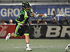 Joe LoCascio #5 of the New York Lizards rips a game-winning two-point goal in the final minute of play to lift his team to a thrilling 15-14 win over the Ohio Machine in a Major League Lacrosse game at Shuart Stadium in Hempstead, NY on Thursday, June 29, 2017.