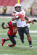 College Park, MD - April 22, 2017: Maryland Terrapins wide receiver DJ Turner (10) runs the ball during game the Maryland Spring Game at  Capital One Field at Maryland Stadium in College Park, MD.  (Photo by Elliott Brown/Media Images International)