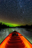 &quot;Canoeing Under The Stars&quot;<br /> <br /> I enjoyed some light-painting fun with my flashlight as I waited for the Aurora to intensify. ~ Day 209 of Inspired by Wilderness: A Four Season Solo Canoe Journey.