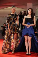 Tao Okamoto, Qi Wei and John Woo walk the red carpet ahead of the 'Manhunt (Zhuibu)' screening during the 74th Venice Film Festival at Sala Darsena on September 8, 2017 in Venice, Italy. <br /> CAP/GOL<br /> &copy;GOL/Capital Pictures