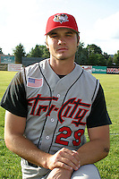 August 22, 2003:  Ryan Yurek of the Tri-City ValleyCats during a game at Dwyer Stadium in Batavia, New York.  Photo by:  Mike Janes/Four Seam Images