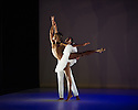 London, UK. 17.06.2014. Dada Masilo's SWAN LAKE at Sadler's Wells, as part of the Sadler's Sampled two week festival. Picture shows: Llewellyn Mnguni (Odile) and Songezo Mcilizeli (Siegfried). Photograph © Jane Hobson.