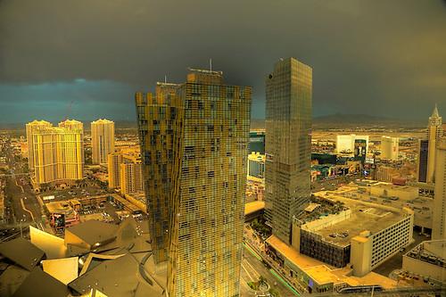 Dark clouds move into the Las Vegas area