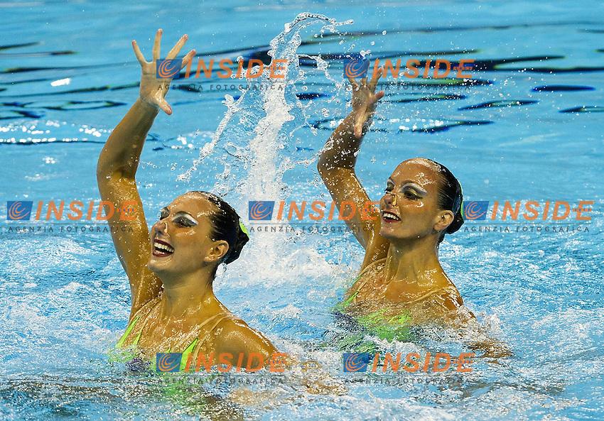 Shanghai ,  (CHN) 16-31 July 2001.XIV FINA Swimming World Championships.day 02.Duet Tech.Preliminary Round.Lapi Perrupato ITA..Photo G.Scala/Insidefoto