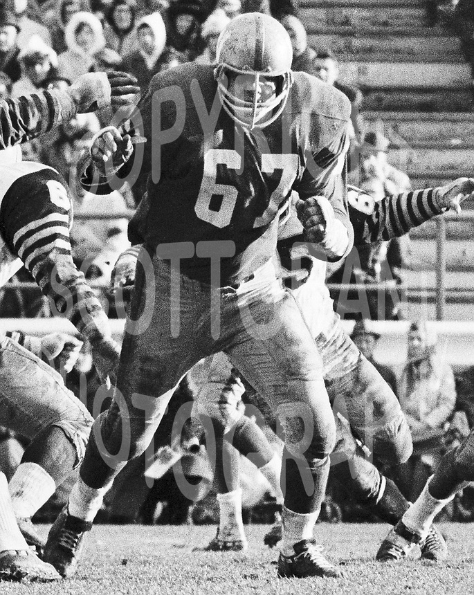 Frank Rigney Winnipeg Blue Bombers 1965 Grey Cup. Copyright photograph Scott Grant/
