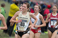 Colorado's Erin Clark (80) runs in the pack during the NCAA Cross Country Championships in Terre Haute, Ind. on Saturday, Nov. 22, 2014. (James Brosher, Special to the Denver Post)