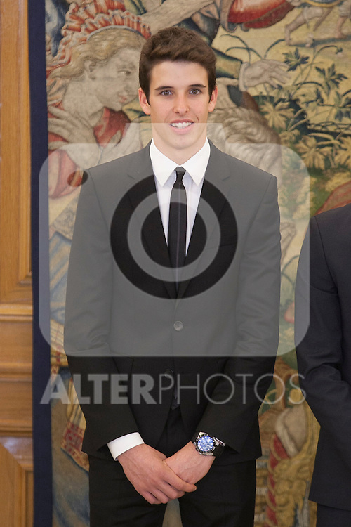 Alex Marquez during Royal Audience with King Felipe VI of Spain at Zarzuela Palace in Madrid, Spain. November 20, 2014. (ALTERPHOTOS/Victor Blanco)