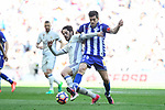 "Real Madrid's Francisco Roman ""Isco"" and Deportivo Alaves's Manuel Alejandro Garcia during La Liga match between Real Madrid and Deportivo Alaves at Stadium Santiago Bernabeu in Madrid, Spain. April 02, 2017. (ALTERPHOTOS/BorjaB.Hojas)"