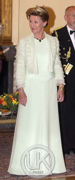 King Harald & Queen Sonja of Norway's State Visit to Greece..State Dinner at the Presidential Palace, Athens.