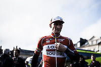 Pictures by Russell Ellis/SWpix.com - 10/04/2016 - Cycling - Paris-Roubaix - France - Paris-Roubaix 2016 - André Greipel in Compiègne before the race