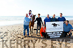 L-R Raymond&Ava Sugrue, Dylan Fitzgerald, Amber Sugrue, Pat O'Shea, Cara Buckley, John McCarthy and Kieran Goodwin, who are all involved in the organisation of next Sundays Castlegregorys horse&pony racing at Stradbally strand, pictured on the beach last Monday evening.