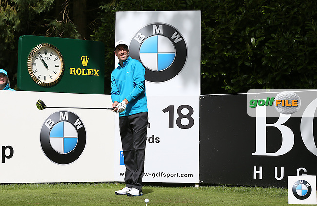 Ross Fisher (ENG) enjoying the sunshine during the Pro-Am ahead of the 2015 BMW PGA Championship over the West Course at Wentworth, Virginia Water, London. Picture David Lloyd, www.golffile.ie: 20/05/2015