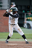 February 21, 2010:  Third Baseman Mark Jones (4) of the Stetson Hatters during the teams opening series at Melching Field at Conrad Park in DeLand, FL.  Photo By Mike Janes/Four Seam Images