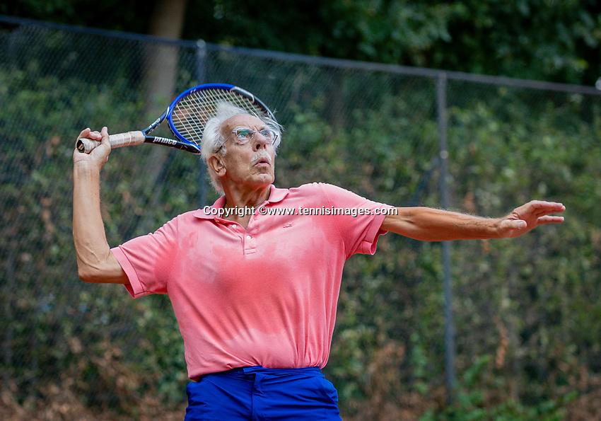Hilversum, The Netherlands,  August 18, 2020,  Tulip Tennis Center, NKS, National Senior Championships, Men's single 75+ ,  Jaap Temminck (NED) <br /> Photo: www.tennisimages.com/Henk Koster