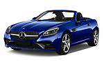 2018 Mercedes Benz SLC AMG Line 2 Door Convertible angular front stock photos of front three quarter view