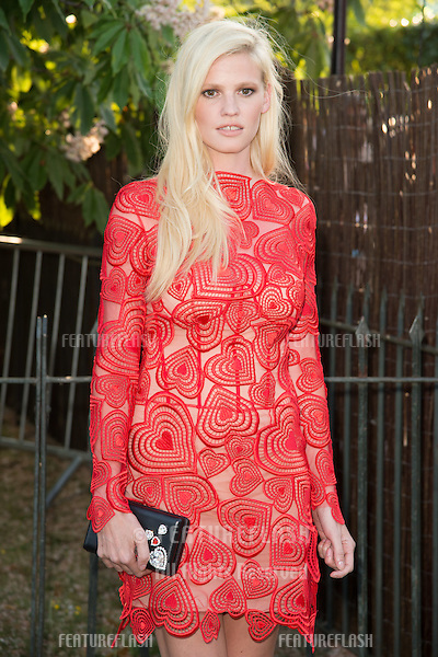 Model Lara Stone at The Serpentine Gallery Summer Party 2015 at The Serpentine Gallery, London.<br /> July 2, 2015  London, UK<br /> Picture: Steve Vas / Featureflash