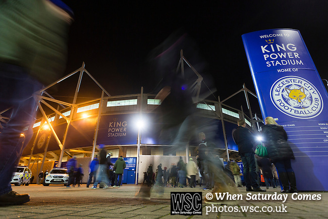 Leicester City 0 Manchester City 0, 29/12/2015. King Power Stadium, Premier League. The King Power Stadium Leicester, before the goalless draw between Leicester City and Manchester City. Photo by Paul Thompson.