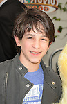 "Universal City, CA - March 27: Zachary Gordon arrives at the Los Angeles premiere of ""Hop"" at Universal Studios Hollywood on March 27, 2011 in Universal City, California."