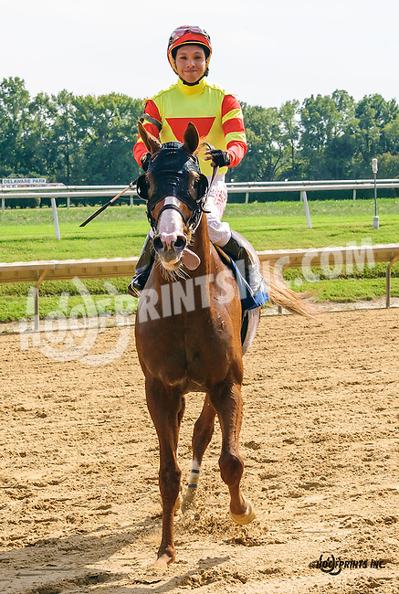 Ranger's Coming #2 winning before being disqualified at Delaware Park on 9/21/16<br /> #3 Tyr was put up to be the winner