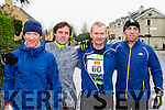 Roland Eager, Simon Mangan, Seamus Murphy and Tony Harty Beaufort at the Beaufort 10k on New Years day