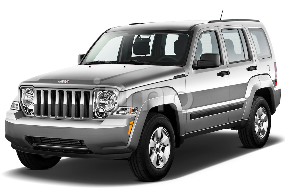 Front three quarter view of a 2012 Jeep Liberty Sport .