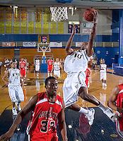 Florida International University Golden Panthers (11-15, 6-10 SBC) versus the University of Louisiana-Lafayette Ragin' Cajuns (9-18, 7-9 SBC) at Pharmed Arena, Miami, Florida on Thursday, February 22, 2007.  The Golden Panthers defeated the Ragin' Cajuns, 71-68...Junior guard Chris Fuller (0)