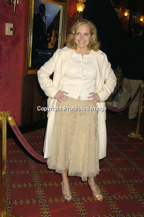"Katie Couric ..at The New York Premiere of ""Beyond The Sea"" on ..December 8, 2004 at the Ziegfeld Theatre. ..Photo by Robin Platzer, Twin Images"