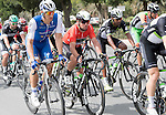 Marcel Kittel (GER) Quick-Step Floors and race leader Mark Cavendish (GBR) Team Dimension Data in action during Stage 2 the Nation Towers Stage of the 2017 Abu Dhabi Tour, running 153km around the city of Abu Dhabi, Abu Dhabi. 24th February 2017<br /> Picture: ANSA/Claudio Peri | Newsfile<br /> <br /> <br /> All photos usage must carry mandatory copyright credit (&copy; Newsfile | ANSA)
