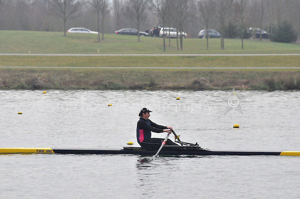 459 TwickenhamRC MasD.1x..Marlow Regatta Committee Thames Valley Trial Head. 1900m at Dorney Lake/Eton College Rowing Centre, Dorney, Buckinghamshire. Sunday 29 January 2012. Run over three divisions.
