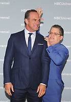 NEW YORK, NY - MAY 14: Christopher Meloni and Patton Oswalt at the 2018 NBCUniversal Upfront at Rockefeller Center in New York City on May 14, 2018.  <br /> CAP/MPI/PAL<br /> &copy;PAL/MPI/Capital Pictures