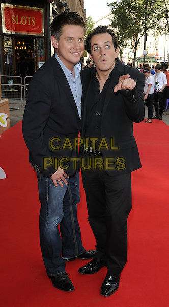 Richard McCourt, Dominic Wood.'The Itch of the Golden Nit' premiere Vue West End cinema, Leicester Square 29th June 2011.full length.CAP/CAN.©Can Nguyen/Capital Pictures.