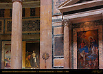 Incredulity of St Thomas and Madonna of the Girdle Annunciation Chapel area Pantheon Campus Martius Rome