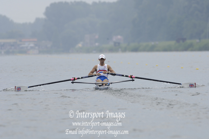 2006, U23 Rowing Championships,Hazewinkel, BELGIUM Saturday, 22.07.2006. GBR BLM1X, Adam FREEMAN-PASK,  Photo  Peter Spurrier/Intersport Images email images@intersport-images.com..[Mandatory Credit Peter Spurrier/ Intersport Images] Rowing Course, Bloso, Hazewinkel. BELGUIM